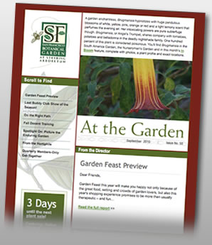 SF Botanical Garden Enewsletter